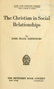 Cover of: The Christian in social relationships