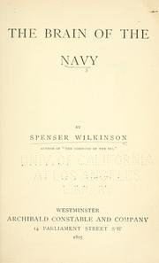 Cover of: The brain of the navy