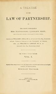 A treatise on the law of partnership by Lindley, Nathaniel Lindley Baron