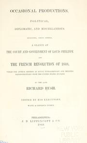 Cover of: Occasional productions, political, diplomatic, and miscellaneous