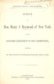 Cover of: Constitutional amendments