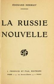 Cover of: La Russie nouvelle