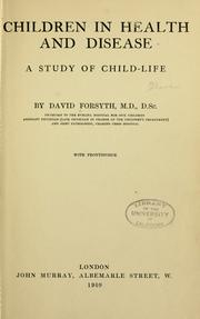 Cover of: Children in health and disease