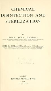 Cover of: Chemical disinfection and sterilization