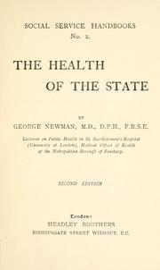 Cover of: health of the state | Newman, George