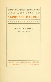 Cover of: The novels, romances, and memoirs of Alphonse Daudet