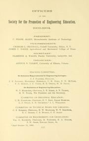 Cover of: List of officers, members and constitution. | American Society for Engineering Education