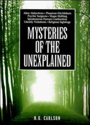 Cover of: Mysteries of the unexplained