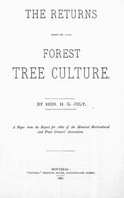 The returns of forest tree culture