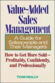 Cover of: Value-Added Sales Management