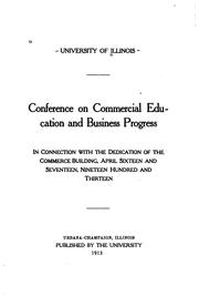 Cover of: Conference on commercial education and business progress