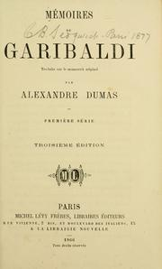 Cover of: Memoires de Garibaldi