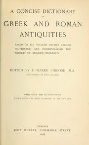 Cover of: A concise dictionary of Greek and Roman antiquities