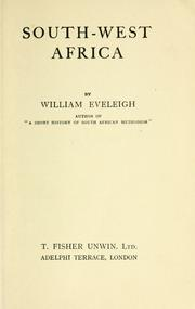 South-West Africa by William Eveleigh