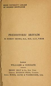 Cover of: Prehistoric Britain