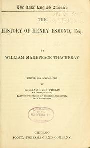 Cover of: The history of Henry Esmond, Esq. | William Makepeace Thackeray