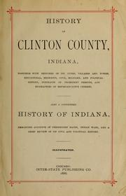 Cover of: History of Clinton County, Indiana. |