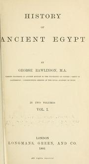 History of ancient Egypt by Rawlinson, George
