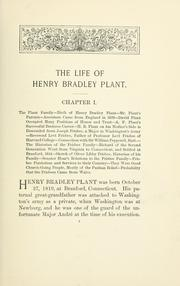 Cover of: The Life Of Henry Bradley Plant