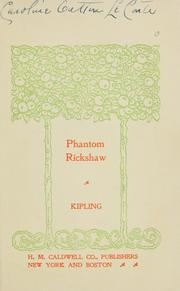 Cover of: The  phantom rickshaw | Rudyard Kipling