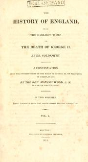 An abridgment of The history of England by Goldsmith, Oliver