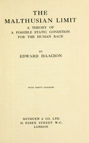 Cover of: The Malthusian limit | Edward Isaacson