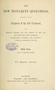 The New Testament quotations by Henry Gough