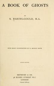 Cover of: A book of ghosts | S. Baring-Gould