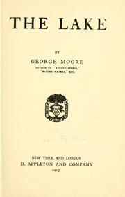 Cover of: The lake | George Moore