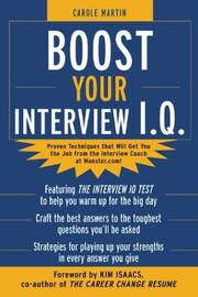 Cover of: Boost Your Interview IQ | Carole Martin
