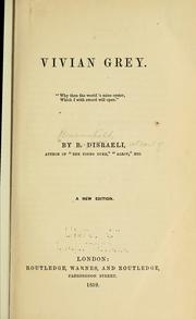 Cover of: Vivian Grey