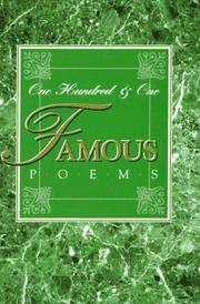One hundred and one famous poems with a prose supplement