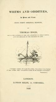 Cover of: Whims and oddities | Thomas Hood