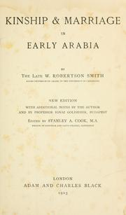 Kinship & marriage in early Arabia by W. Robertson Smith