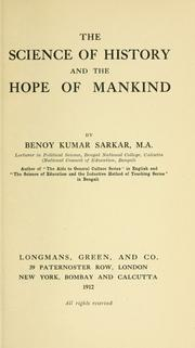 Cover of: The science of history and the hope of mankind