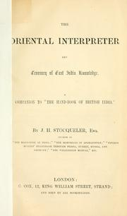 Cover of: The oriental interpreter and treasury of East India knowledge