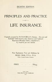 Cover of: Principles and practice of life insurance | Nathan Willey