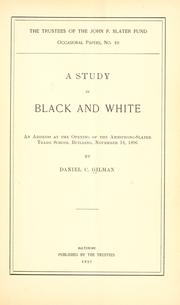 Cover of: A study in black and white