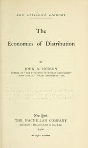 Cover of: The economics of distribution