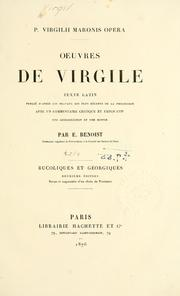 Cover of: Oeuvres by Publius Vergilius Maro