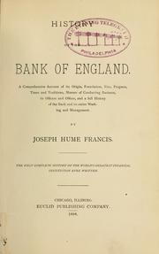 History of the Bank of England.