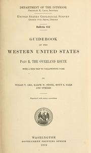 Cover of: Guidebook of the western United States