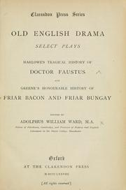 Cover of: Old English drama