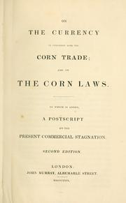 Cover of: On the currency in connexion with the corn trade