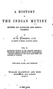 Cover of: A history of the Indian mutiny by Forrest, George Sir