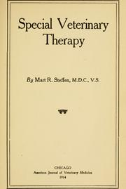 Cover of: Special veterinary therapy