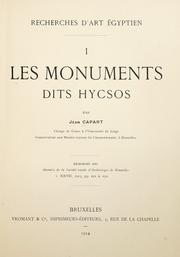 Cover of: Les monuments dits Hycsos