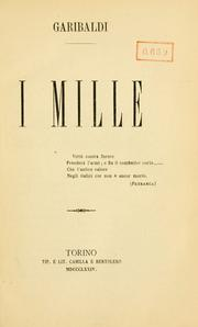 Cover of: I mille