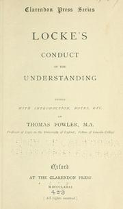 Cover Of Lockes Conduct The Understanding