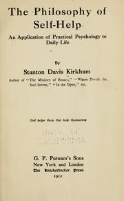 Cover of: philosophy of self-help | Kirkham, Stanton Davis